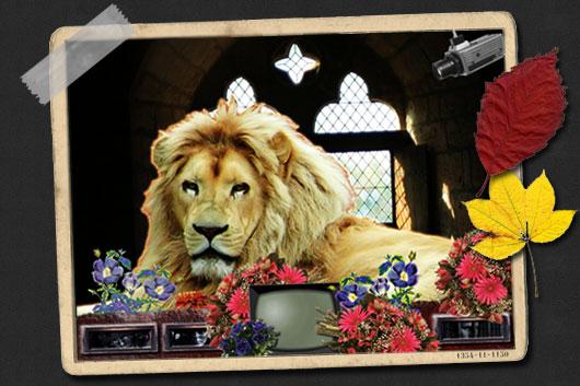 Le Lion Bleuflorophage dans son palais