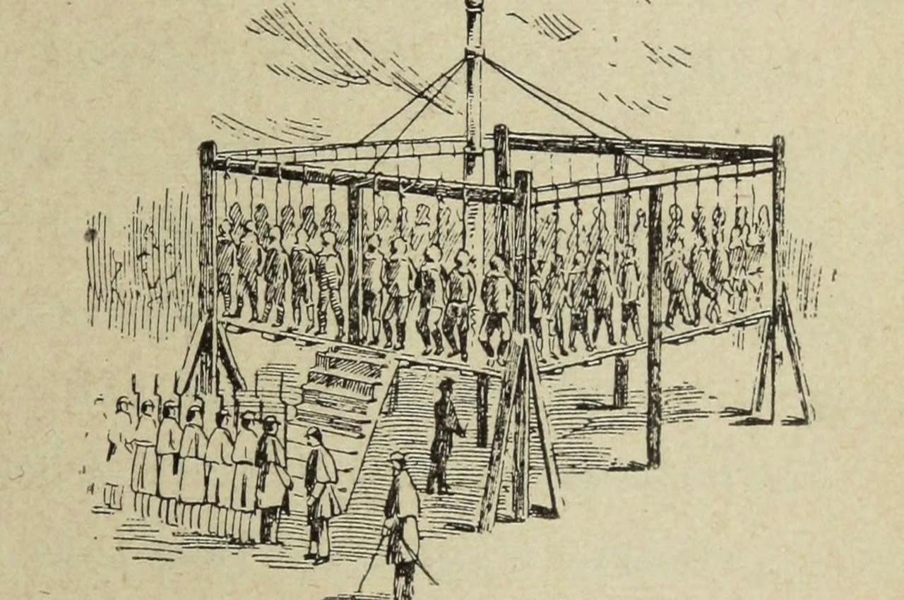Grande exécution préventive publique de gauchistes en Drönésie