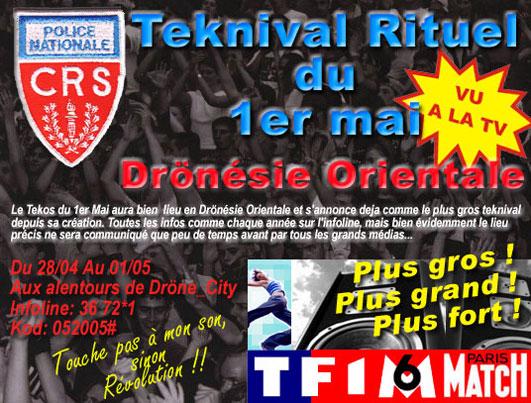 Le Teknival du 1er mai organisé en Drönésie orientale