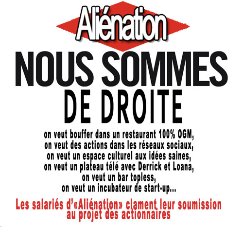 Aliénation, le quotidien de propagande drönésien, ouvre un bar topless